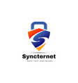 sync internet secure logo sign symbol icon vector image