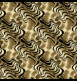 textured 3d gold geometric seamless pattern vector image vector image