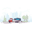 tow truck service vector image