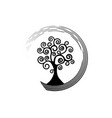 tree life round icon tree natural ecology logo vector image