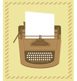 typewriter in retro style - card vector image vector image