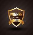 winner of 2015 golden label design badge vector image vector image