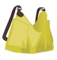 yellow women handbag isolated on white background vector image vector image