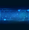 polygon background abstract technology vector image