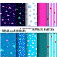 10 seamless marine patterns abstract aqua design