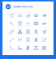 25 wash icons vector image vector image