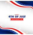 4th july happy independence day holiday vector image vector image