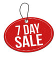 7 day sale label or price tag vector image vector image
