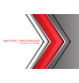 abstract red grey silver line arrow direction vector image