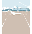 Airport field vector image