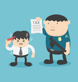 anxiety of male businessmen who are being taxed vector image vector image
