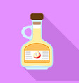 apple vinegar icon flat style vector image vector image