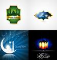 attractive set of ramadan kareem background vector image vector image