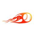 baseball blast flames symbol design vector image vector image