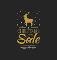 black christmas sale poster vector image
