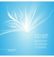 Blue background with new life vector image vector image