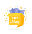 box with free shipping icon vector image vector image