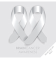 brain cancer ribbon vector image vector image