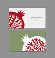 business cards design pomegranate background vector image vector image