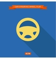 Car steering wheel into flat style vector image