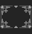 christmas art deco frame vintage linear border vector image