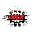 Comic text pop crash art bubble vector image vector image