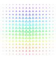 contour triangle shape halftone spectrum pattern vector image vector image