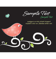 Crafty Bird Background vector image vector image