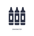 crayons toy icon on white background simple vector image vector image