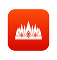 crown icon digital red vector image vector image