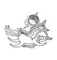 cute fairytale unicorn and fairy characters vector image