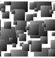 Dark seamless background of squares vector image
