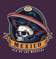 dia de los muertos vintage emblem vector image vector image