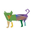 dog in cubism style vector image vector image