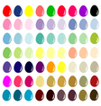 Easter eggs - The collection for designers vector image