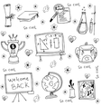 Element education hand draw in doodles vector image vector image