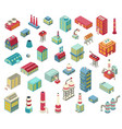 factory isometric objects set vector image vector image