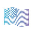 flag united states of america wave in color vector image vector image