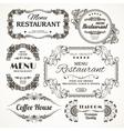 Floral restaurant labels vector image vector image