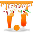 for alcohol cocktail tequila sunrise vector image vector image