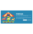 funfair advertisement poster vector image vector image