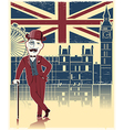 Gentleman with London background vector image vector image