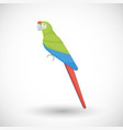 great green macaw flat icon vector image