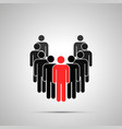 group workers silhouette with leader simple vector image vector image