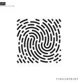 human fingerprint vector image vector image