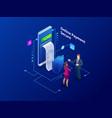 isometric online payment online concept internet vector image