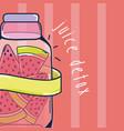 juice detox cartoon vector image vector image