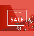 memorial day sale banner with paper cut poppy vector image vector image