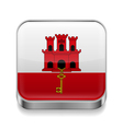 Metal icon of Gibraltar vector image vector image