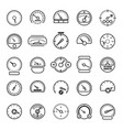 meter and gauge control icons for dashboard vector image vector image